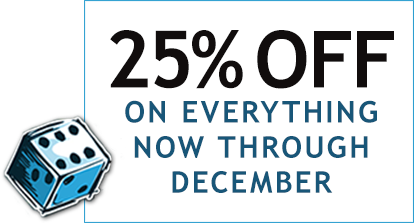25% Off On Everything Now Through December